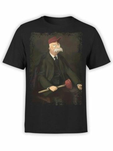 1635 Futurama T Shirt Mr Scruffy Scruffington Front