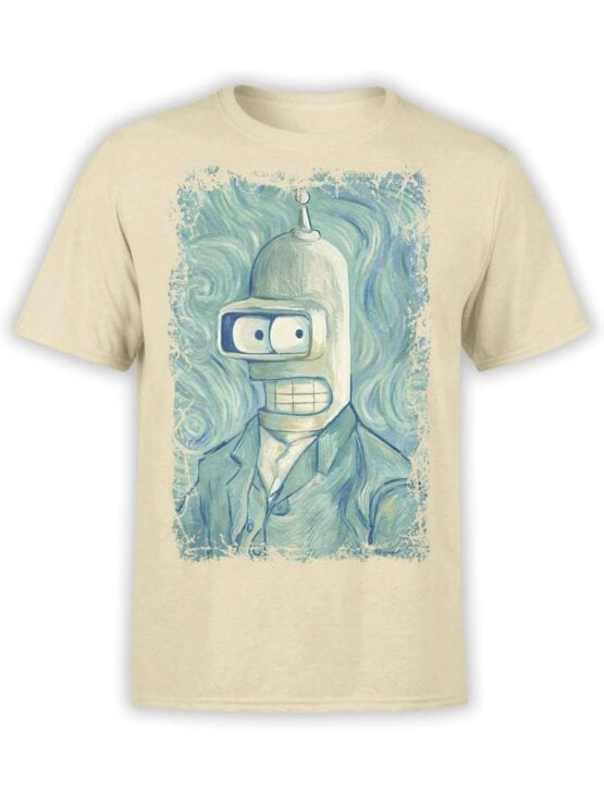 1640 Futurama T Shirt Bender van Gogh Front