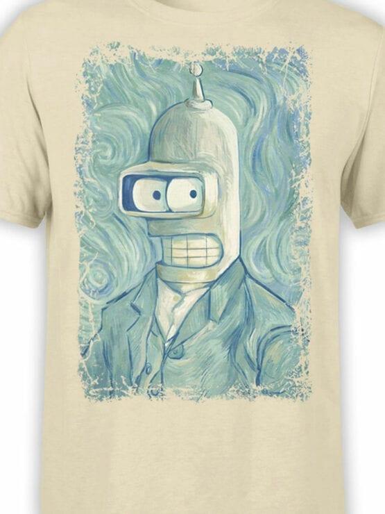 1640 Futurama T Shirt Bender van Gogh Front Color