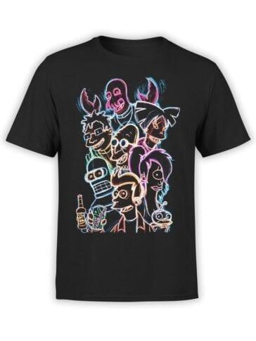 1641 Futurama T Shirt Planet Express Team Front