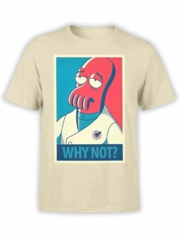 1643 Futurama T Shirt Zoidberg Why Not Front