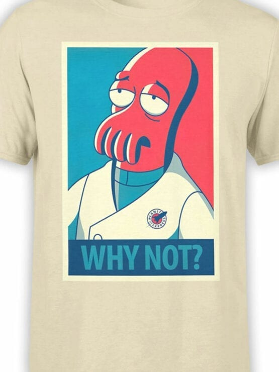 1643 Futurama T Shirt Zoidberg Why Not Front Color