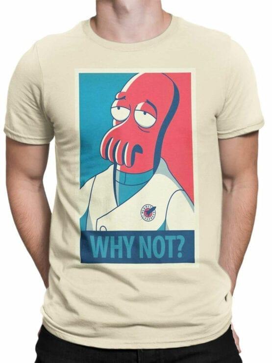1643 Futurama T Shirt Zoidberg Why Not Front Man