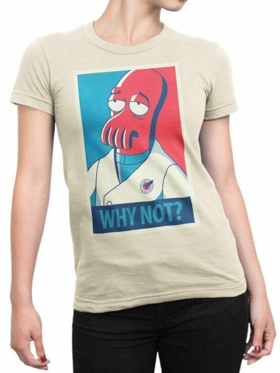 1643 Futurama T Shirt Zoidberg Why Not Front Woman