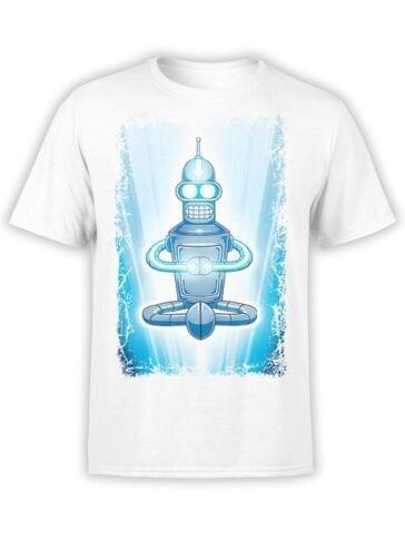 1648 Futurama T Shirt Bender Avatar Front
