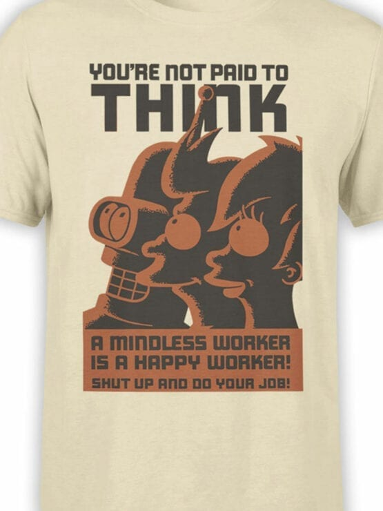 1649 Futurama T Shirt Not Paid for Think Front Color