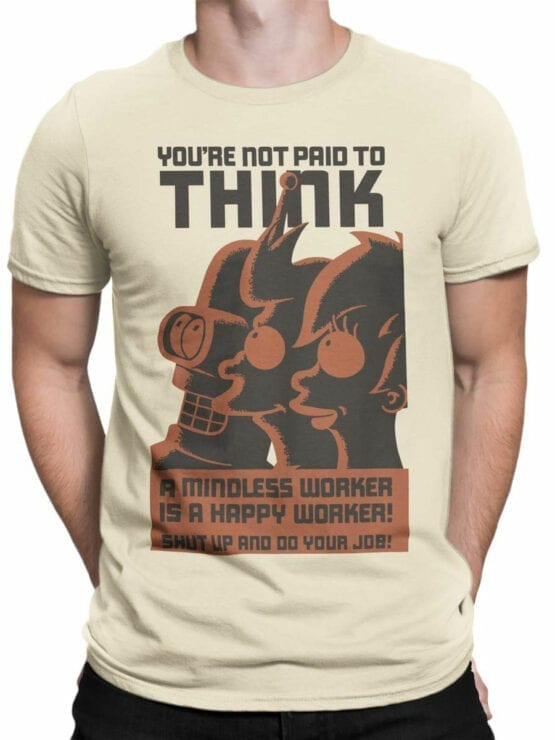 1649 Futurama T Shirt Not Paid for Think Front Man