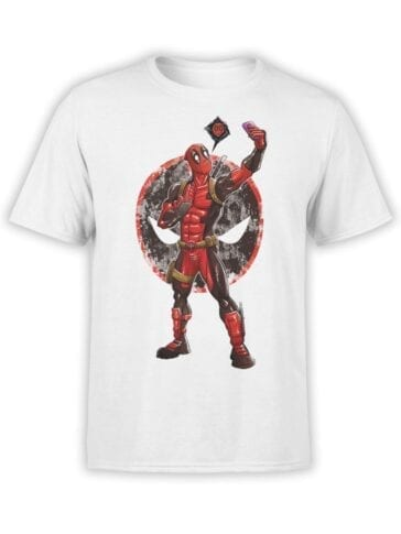1672 The Selfie T Shirt Deadpool T Shirt Front