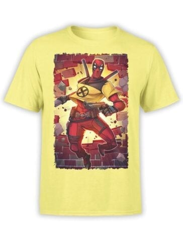 1674 Wall T Shirt Deadpool T Shirt Front