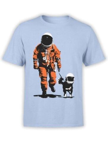 1677 Astro Dog T Shirt NASA T Shirt Front