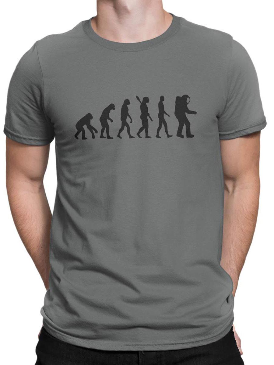 Moon Evolution of Man Astronaute T-shirt homme-Nasa-Espace-Planètes