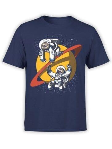 1679 Lazy Astronauts T Shirt NASA T Shirt Front