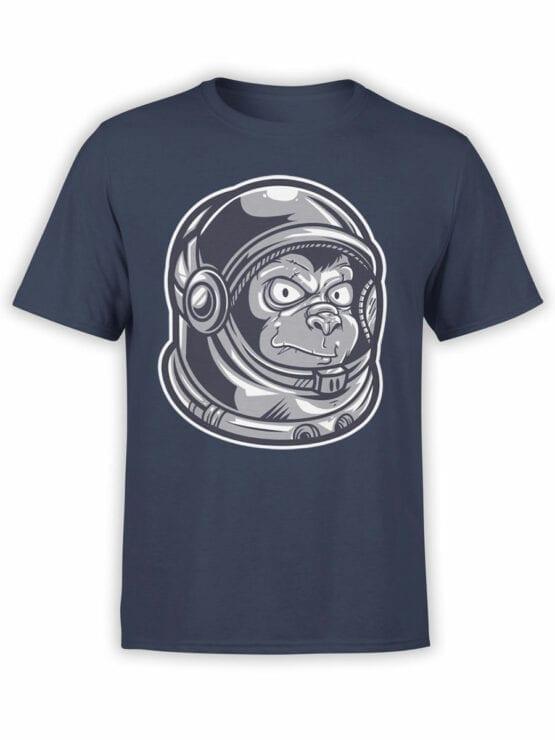 1682 Astro Monkey T Shirt NASA T Shirt Front