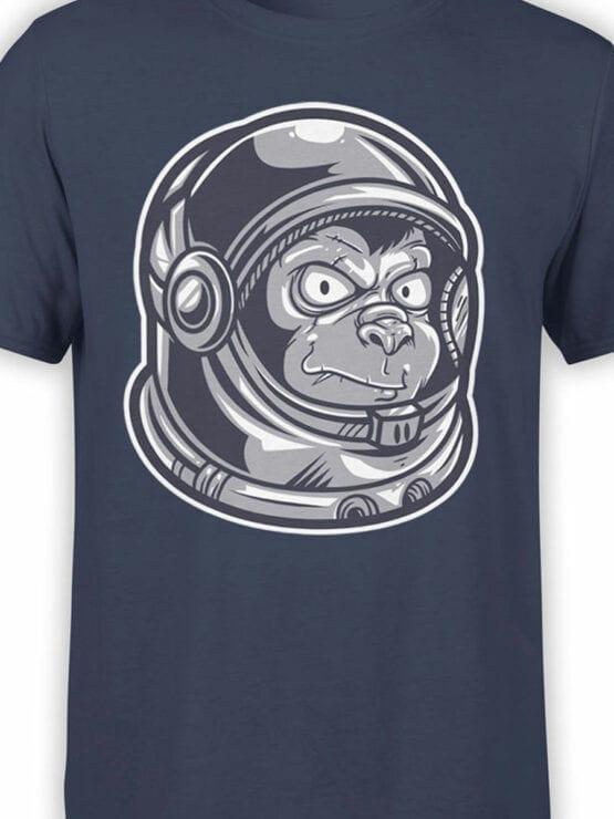 1682 Astro Monkey T Shirt NASA T Shirt Front Color