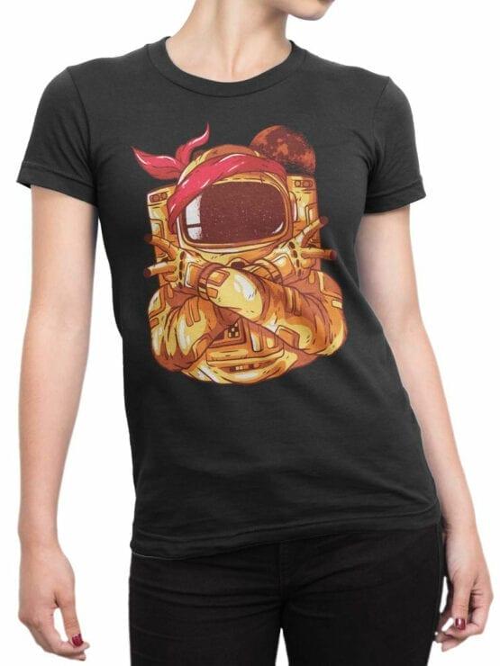 1686 Astro Gang T Shirt NASA T Shirt Up Front Woman