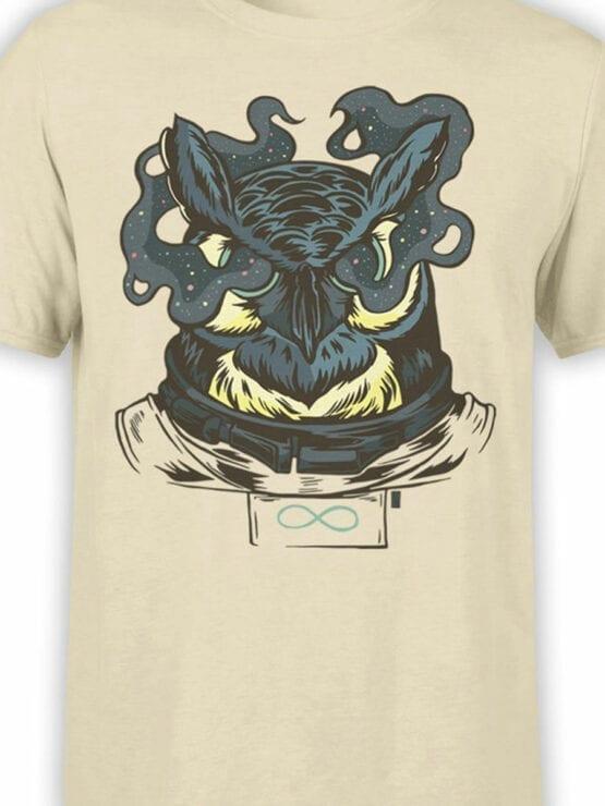 1687 Astronaut Owl T Shirt NASA T Shirt Front Color