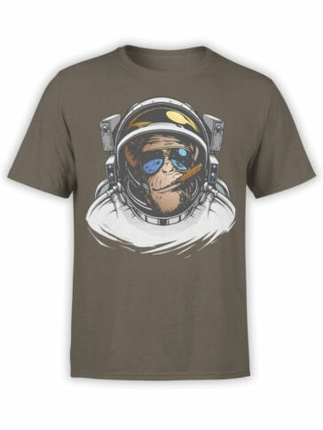 1692 Cool Monkey T Shirt NASA T Shirt Front