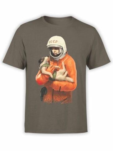 1695 Russian Astronauts T Shirt NASA T Shirt Front