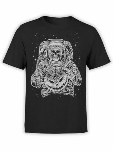 1696 Halloween T Shirt NASA T Shirt Front