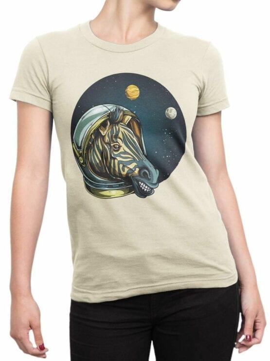 1703 Astro Zebra T Shirt Front Woman