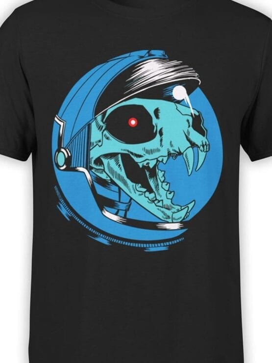 1707 Dino Astronaut T Shirt Front Color