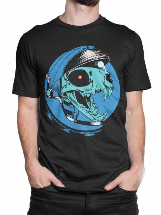 1707 Dino Astronaut T Shirt Front Man 2