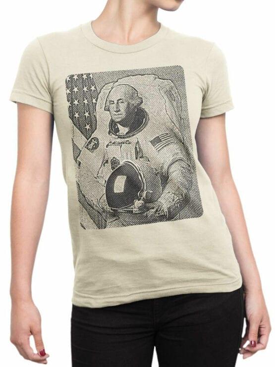 1709 Washingtonaut T Shirt NASA T Shirt Front Woman