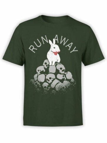 1712 Run Away T Shirts Monty Python T Shirt Front