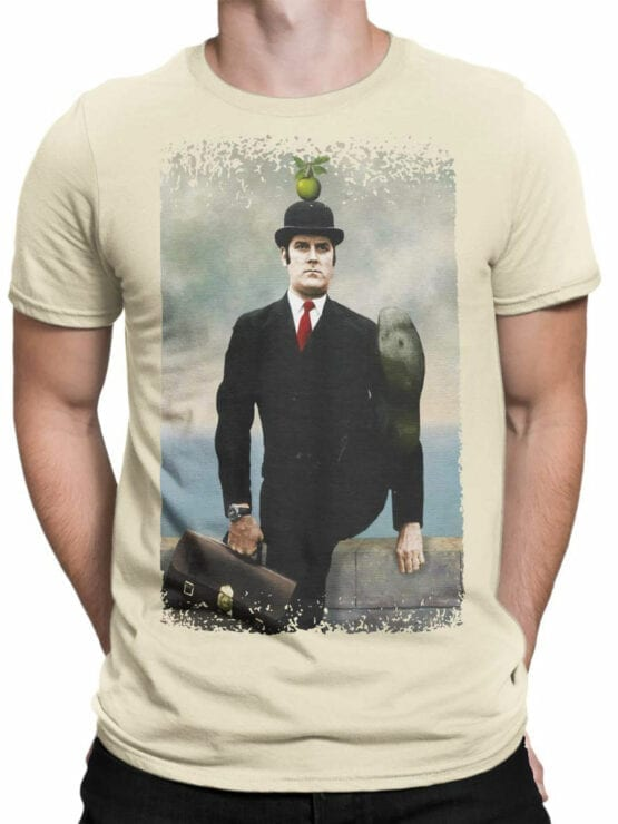 1716 Magritte Apple T Shirt Monty Python T Shirt Front Man