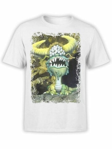 1717 Many Eyed Monster T Shirt Monty Python T Shirt Front