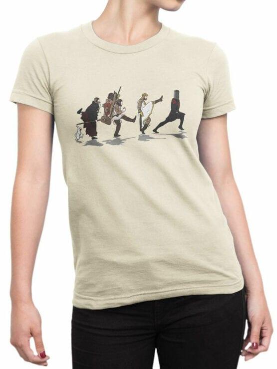 1725 Silly Walks T Shirt Monty Python T Shirt Front Woman