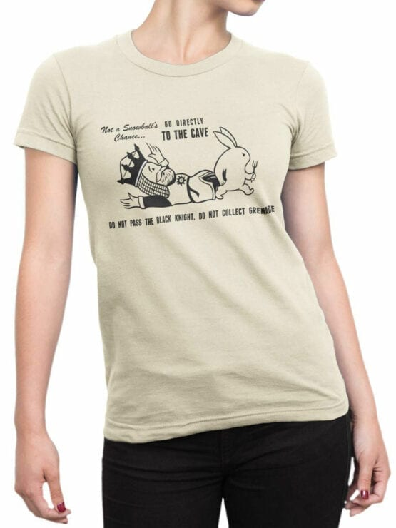 1729 To the Cave T Shirt Monty Python T Shirt Front Woman