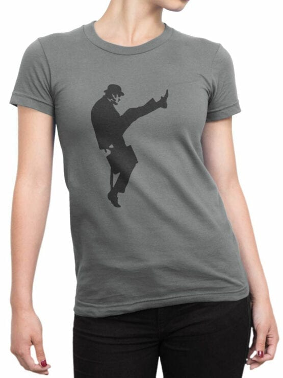 1730 Ministry Of Silly Walks T Shirt Monty Python T Shirt Front Woman