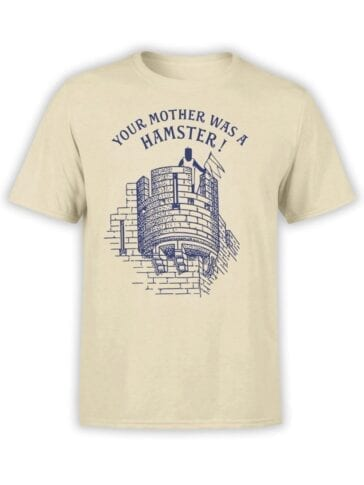 1731 Your Mother was a Hamster T Shirt Monty Python T Shirt Front