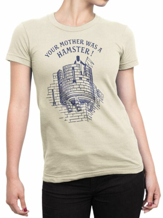 1731 Your Mother was a Hamster T Shirt Monty Python T Shirt Front Woman