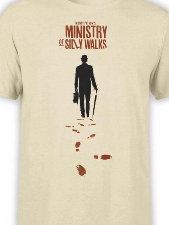 1732 Ministry Of Silly Walks Monty Python T Shirt Front Color