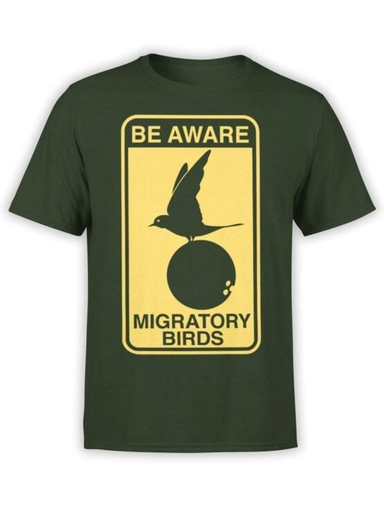 1734 Be Aware T Shirt Monty Python T Shirt Front