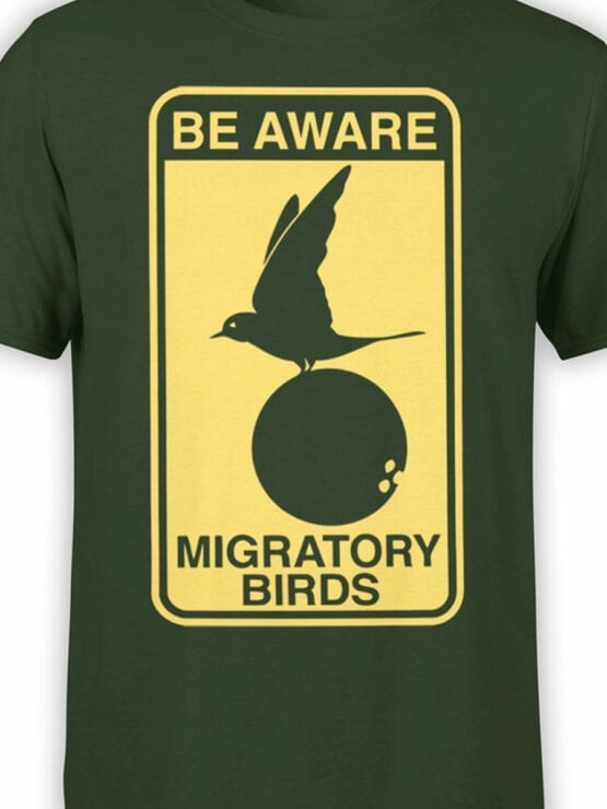 1734 Be Aware T Shirt Monty Python T Shirt Front Color