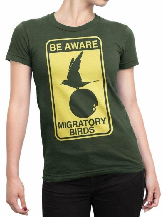 1734 Be Aware T Shirt Monty Python T Shirt Front Woman