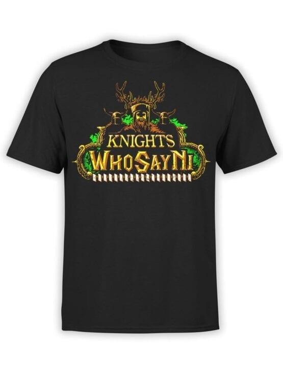 1735 Who Say Ni T Shirt Monty Python T Shirt Front
