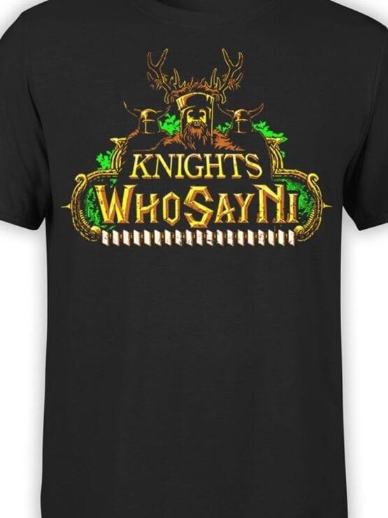 1735 Who Say Ni T Shirt Monty Python T Shirt Front Color