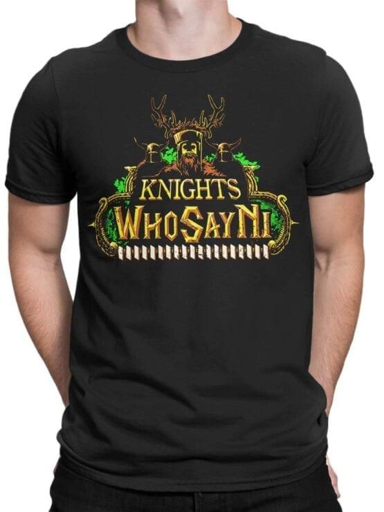 1735 Who Say Ni T Shirt Monty Python T Shirt Front Man