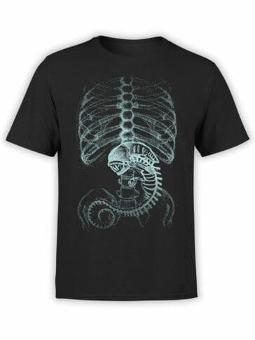 1736 Ribs Alien T Shirt Front