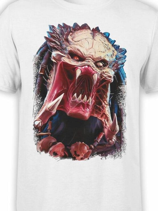 1737 Predator Alien T Shirt Front Color