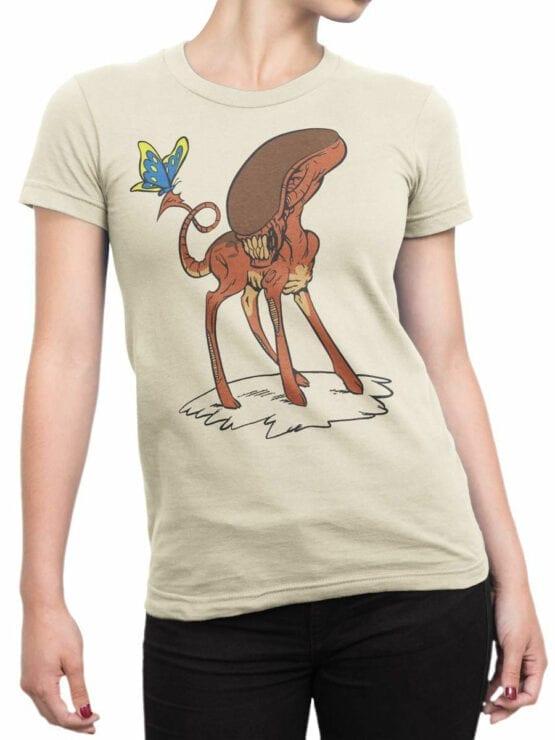 1738 Bambi Alien T Shirt Front Woman