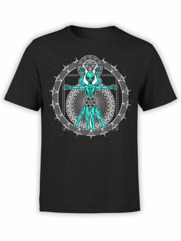 1743 Da Vinchi Alien T Shirt Front