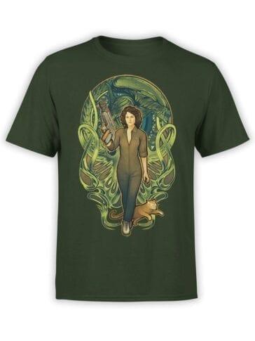1744 Ripley Mucha Style Alien T Shirt Front