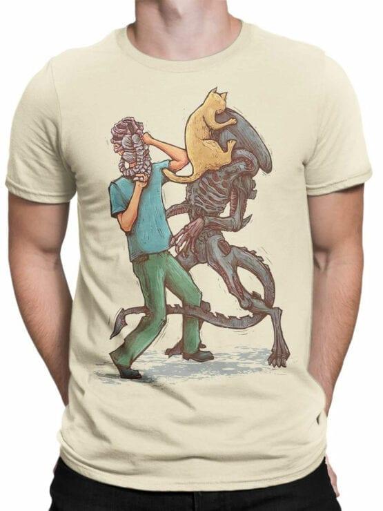 1745 Weapons Alien T Shirt Front Man