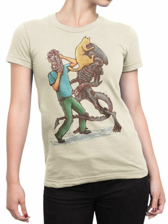 1745 Weapons Alien T Shirt Front Woman