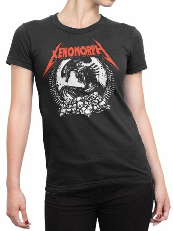 1746 Xenomorph T Shirt Alien T Shirt copy Front Woman